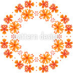 Turning Fowers Seamless Vector Pattern Design