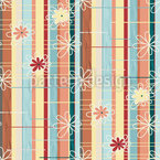 Flowers and Stripes Pattern Design