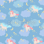 Unicorn Dream World Seamless Vector Pattern Design