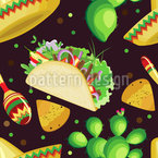 Evening in Mexico Seamless Vector Pattern Design