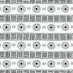 Симметрия Этно Стиль Бесшовный дизайн векторных узоров