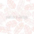 Blätter Oder Federn Rapportiertes Design
