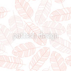 Leaves Or Feathers Repeating Pattern