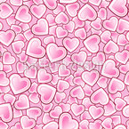 Hearts beat in a beat Seamless Vector Pattern Design