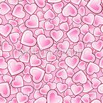 Herzen schlagen in einem Takt Nahtloses Vektormuster