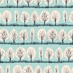 Winter Trees  Seamless Vector Pattern
