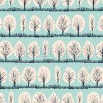 Winterbäume Nahtloses Vektormuster