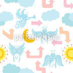 City Of Angels Seamless Vector Pattern Design