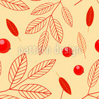 Fantastical Mountain Ash Vector Ornament