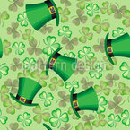 Shamrocks And Hat Vector Pattern
