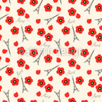 Paris And Poppies Repeating Pattern