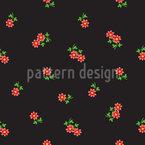 Kleine Zarte Blumen Nahtloses Vektormuster