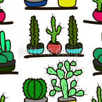 Mexican Window Sill Seamless Vector Pattern Design