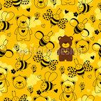 Bären Lieben Honig Musterdesign