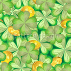Shamrocks And Coins Repeating Pattern