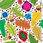 Autumn Treasures Seamless Pattern