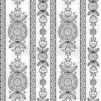 エスノファンタジー シームレスなベクトルパターン設計
