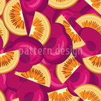Cherries And Oranges Seamless Vector Pattern Design