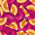 Kirschen Und Orangen Nahtloses Vektormuster