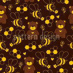 Brown Bear Repeat Pattern