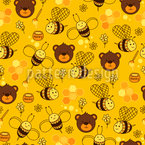 Honey Makers Seamless Vector Pattern Design
