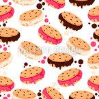 Eis-Cookies Nahtloses Vektormuster