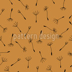Autumnal Dandelion Seamless Vector Pattern Design