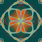 Floralil Blumen Nahtloses Vektormuster