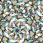 Effect Flower Seamless Vector Pattern Design