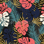 Exotic Foliage Seamless Vector Pattern Design