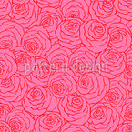 Ocean Of Roses Seamless Vector Pattern Design