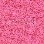 Ozean Der Rosen Nahtloses Vektormuster