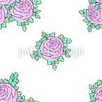 Buquês de Rosas Design de padrão vetorial sem costura