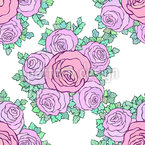 Floating Bouquets Of Roses Seamless Pattern