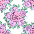 Schwimmende Rosensträuße Nahtloses Vektormuster