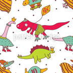 Dinos Seamless Vector Pattern Design