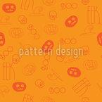 Abóbora Hallooween Design de padrão vetorial sem costura