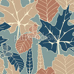 Leaves Hike Vector Ornament