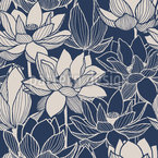 Macro Lotus Seamless Pattern
