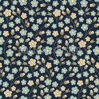 Verwachsene Blütenpracht Vektor Muster