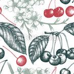 Vintage Kirschbaum Nahtloses Vektormuster