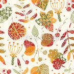 Textured Autumn Floor Seamless Vector Pattern Design