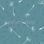 Soft Dandelion Seamless Vector Pattern Design