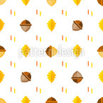 Flat Style Acorns Vector Ornament