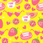 Love For Sweets Seamless Pattern