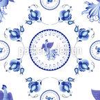 Ornamento Gzhel disegni vettoriali senza cuciture