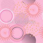 Designs de círculo Design de padrão vetorial sem costura