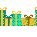 Gift Boxes in line Seamless Vector Pattern