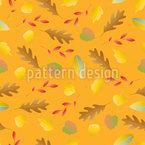 Bunte Herbstblätter fallen Nahtloses Vektormuster