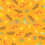 Colorful autumn leaves falling Vector Pattern